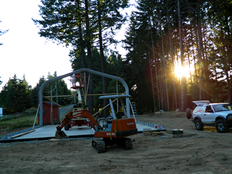 watch the video of steel building arch installation by Christopher, Aug 2013